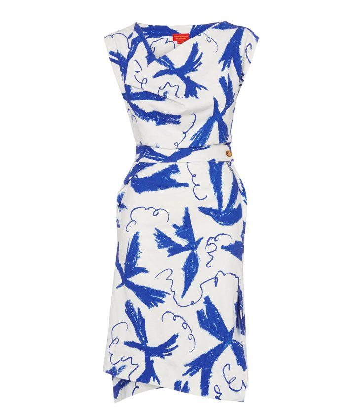 Bird Print New Case Dress