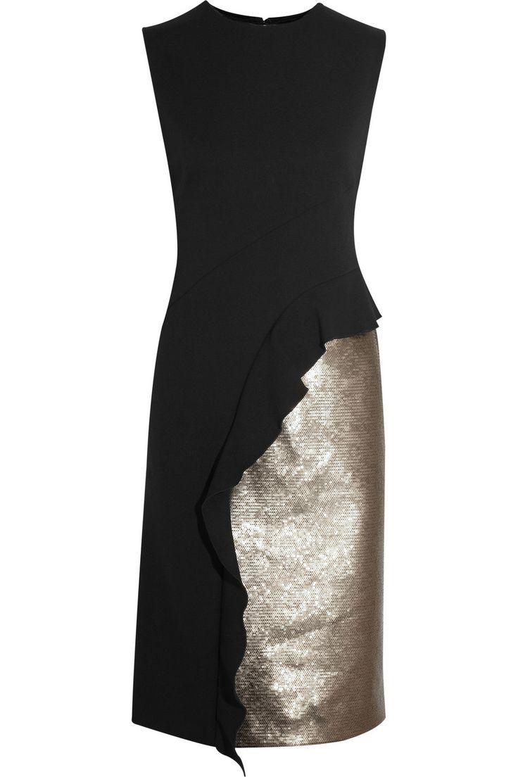 Philosophy di Alberta Ferretti Sequined crepe dress NET-A-PORTER.COM
