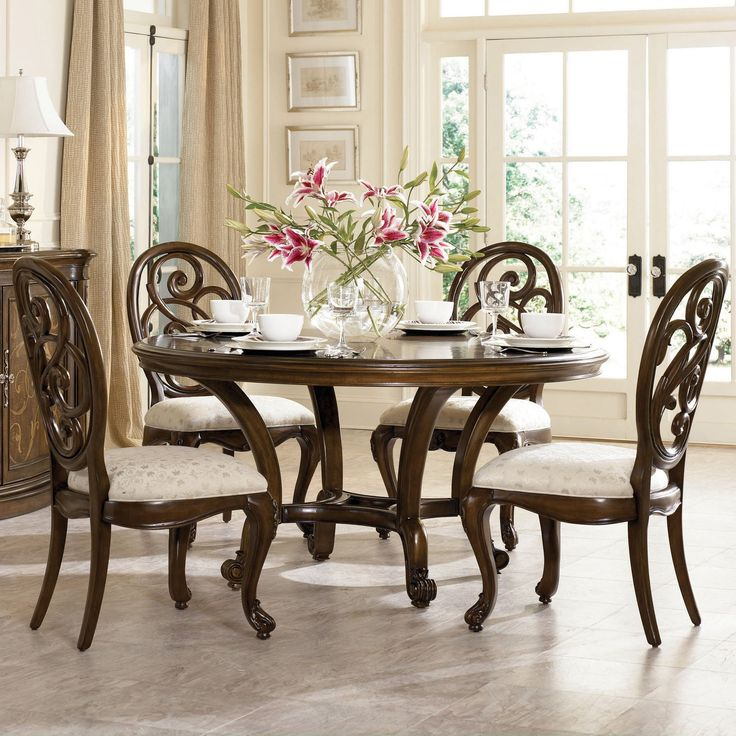 Jessica Mcclintock, Round Tables, Round Dining Room Tables, Kitchen Tables, Round  Table Top, Round Dining Set, Round Pedestal Dining Table, Round Kitchen, ...