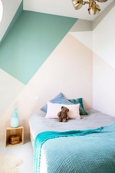 What better way to add charm to a kids bedroom than with bright accent walls? In this Paris apartment, mother of three Béatrice Lavalrepeated the colors on the walls throughout her...