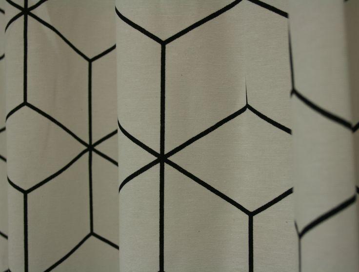 Black&White - Block. Moderne stof met trendy look