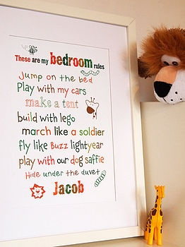 Rules For Bedrooms And My Son On Pinterest