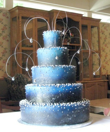 Outer Space Wedding Cake, By Wendy DeBord