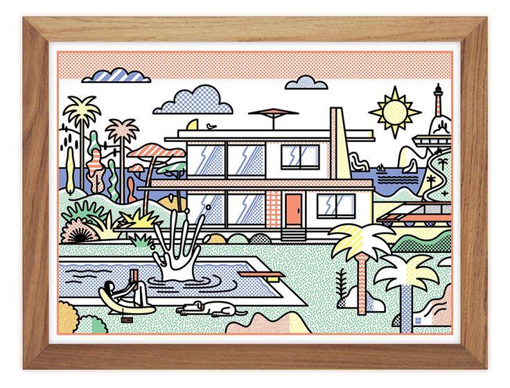 Dume - Tiphaine-illustration #house #illustration #dolcevita