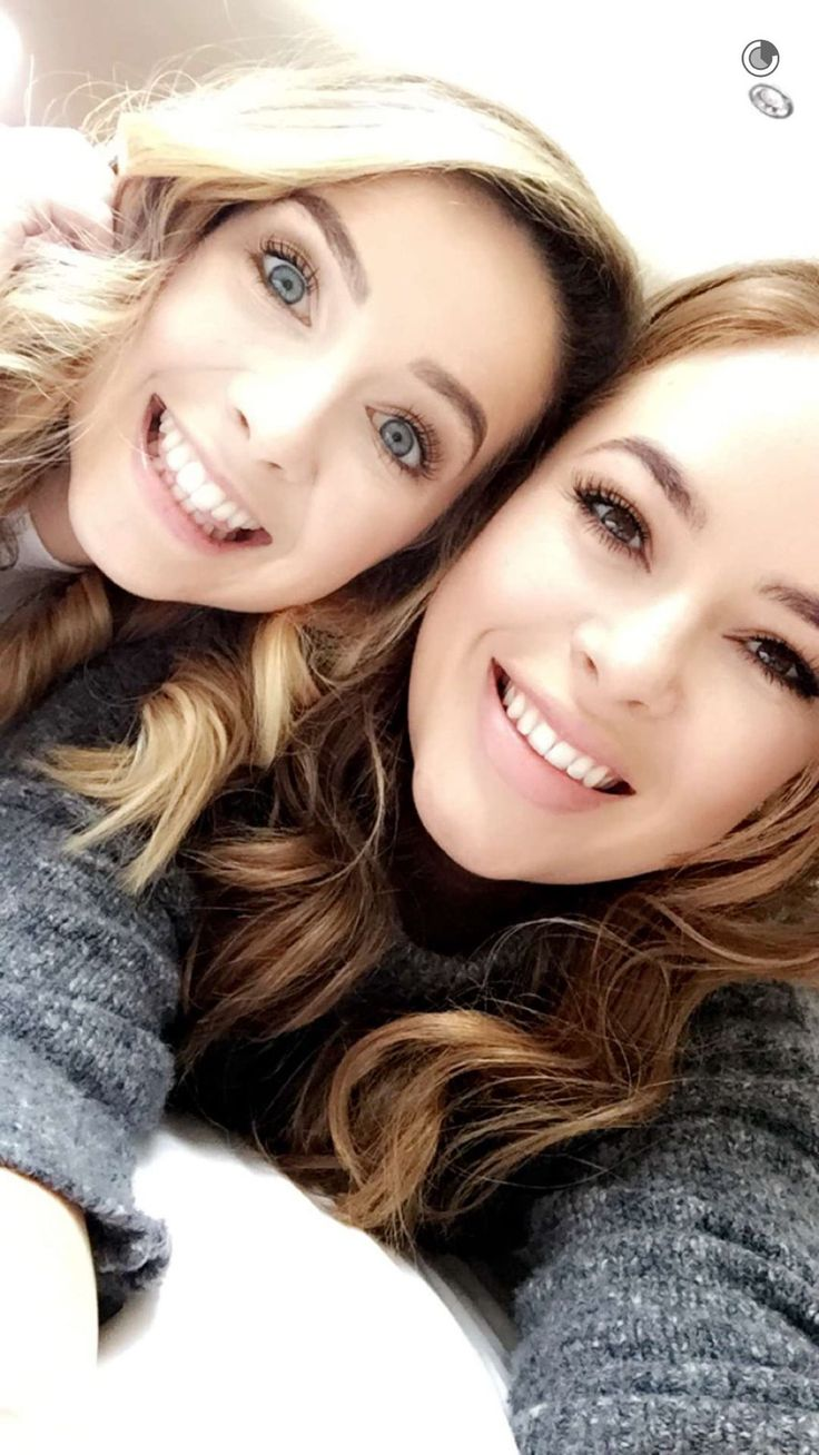 Zoe Sugg (zoella) with Tanya Burr