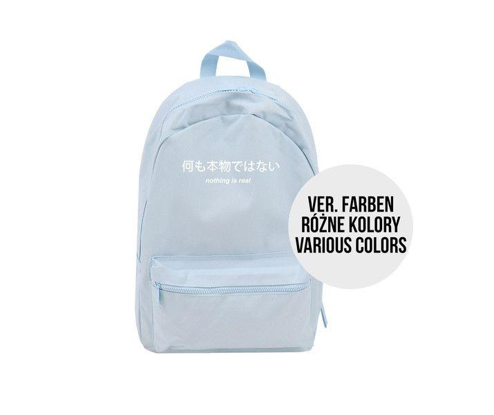 Backpacks – School backpack nothing is real japanese kawaii – a unique product by MoodyMood on DaWanda
