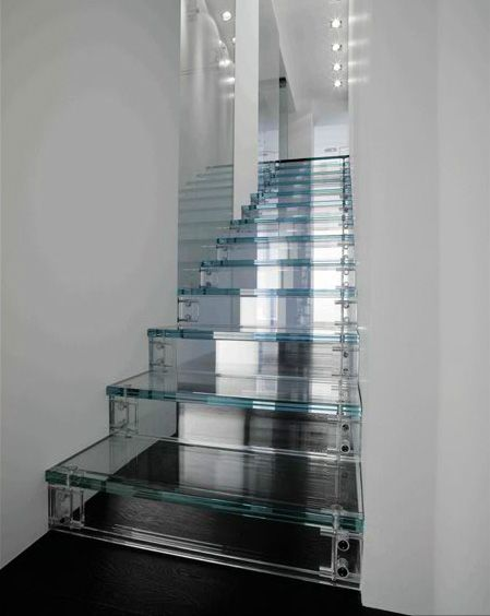 Tread lightly.... glass stairs