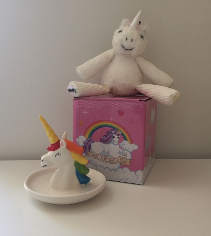 Enchanted rainbow unicorn jewellery dish and ring holder