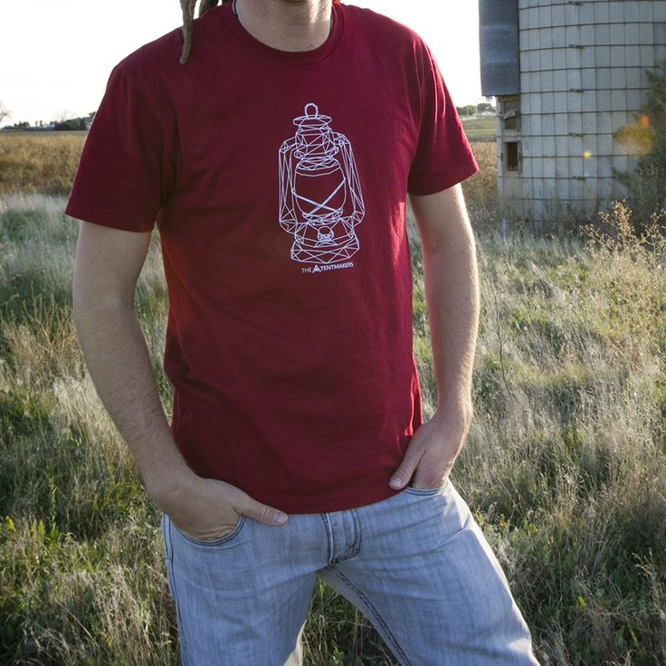 Lantern graphic tee. Geometric shapes. - The Tentmakers
