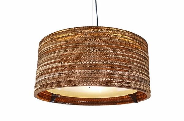 modern home lighting ideas cardboard pendant lamp drum chandelier