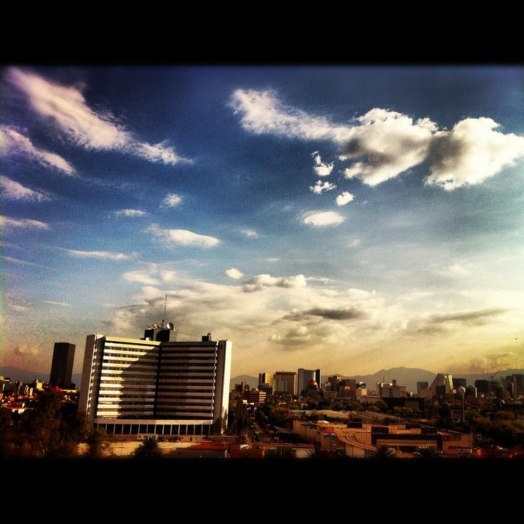 Un atardecer en la Ciudad de México