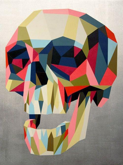geometric #skull