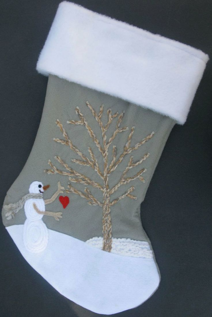 Christmas Spirit Handmade Felt Stocking.