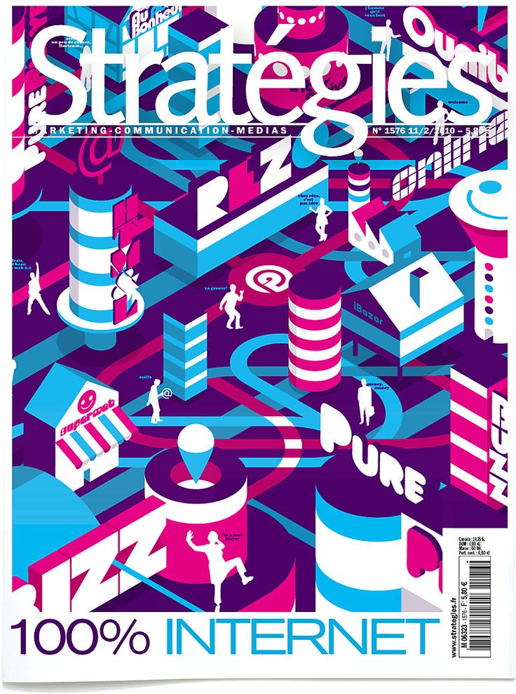 STRATEGIES n° 100. Cover by Tino