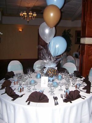 Blue Brown Baby Shower Theme Ideas These Would Be Good Colors If You Were