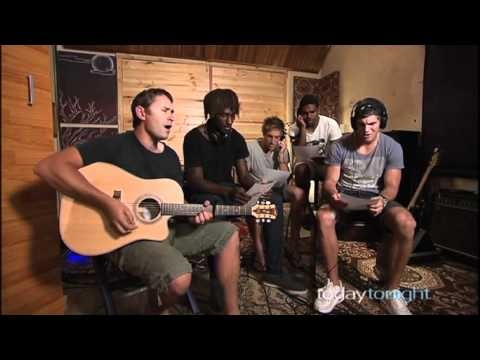 """The West Coast Eagles were so moved by their trip to Cambodia that when they returned they wrote and recorded a song. It was called """"picking up the pieces."""""""