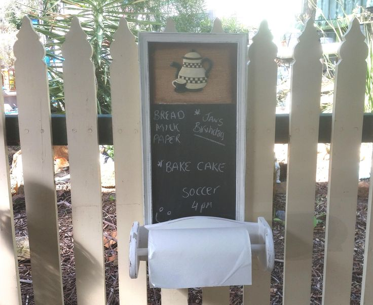 chalk board // towel rack // paper towel dispenser // kitchen organisation // gift for her // housewarming // memo board // notice board by BornAgainBargainsCo on Etsy