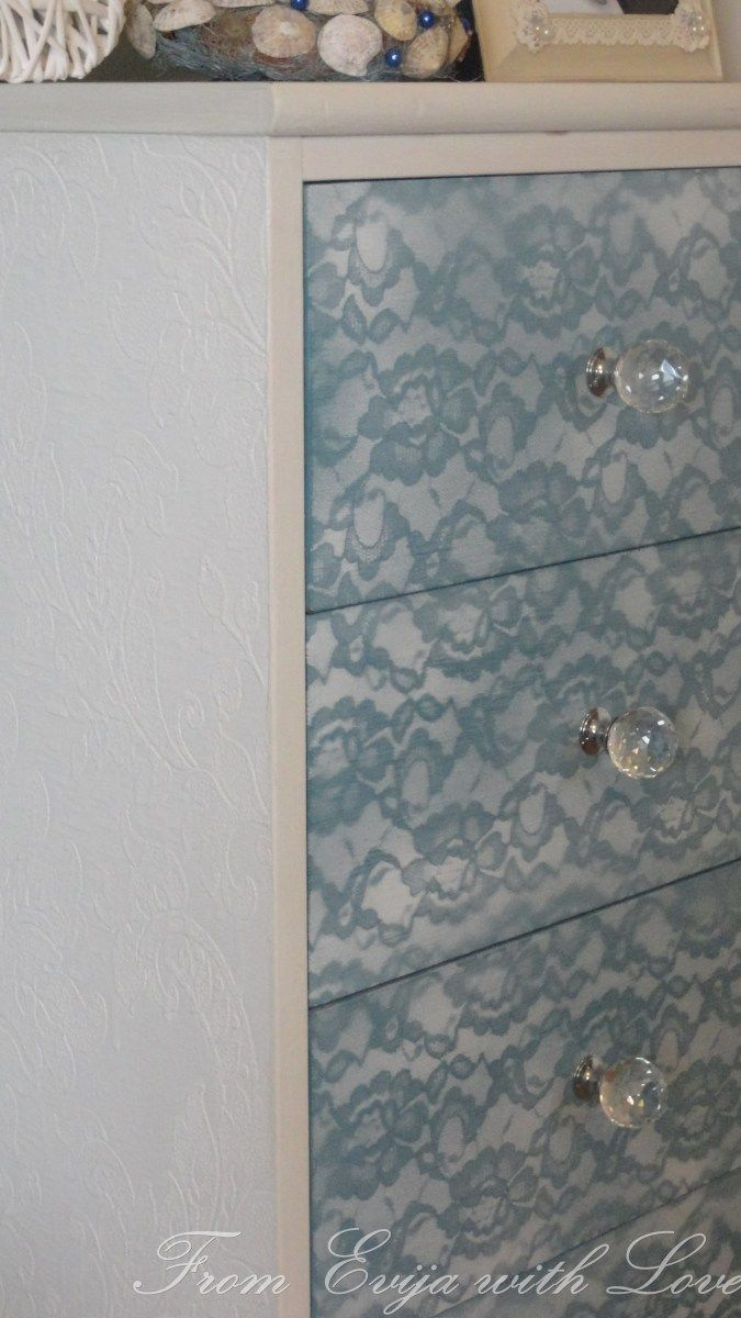 DIY - Lace Painted Furniture