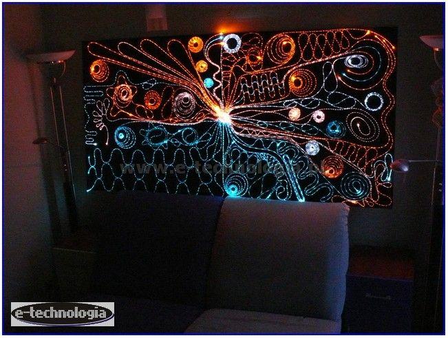 LED Oświetlenie Salonu - Zestaw Ściana Świecąca