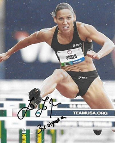 Lolo Jones, Track & Field, Olymics, USA, Signed, Autographed, Hockey 8x10 Photo, a Coa with the Proof Photo of Lolo Signing Will Be Included