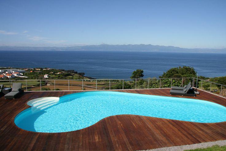 Piscina Waterair, modelo Carole. Localizada nos Açores - Portugal