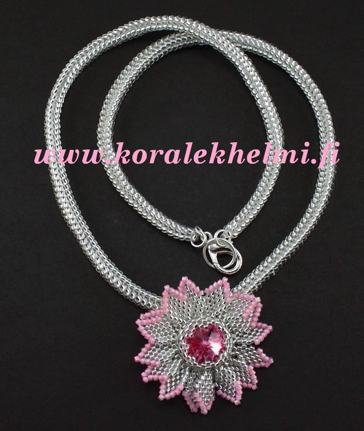 Flower pendant with Swarovski rivoli