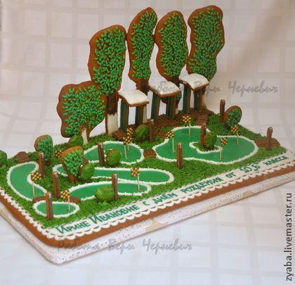 Пряничный гольф-клуб - пряник,расписные пряники,козули,Архангельские Козули