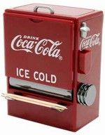 Coca-Cola Toothpick Dispenser    I have one in my kitchen! <3