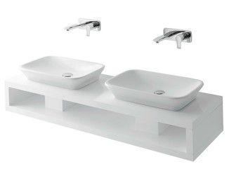 Doppel- Waschtisch aus Holz MH   Doppel- Waschtisch