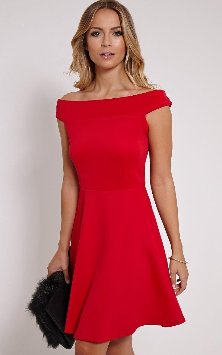 Red Bardot dress                                                       …