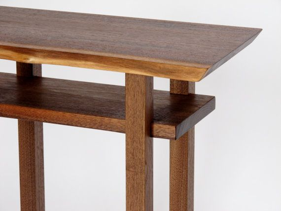 Small narrow table custom furniture 18 24 w x 10 11 d for Short narrow end tables