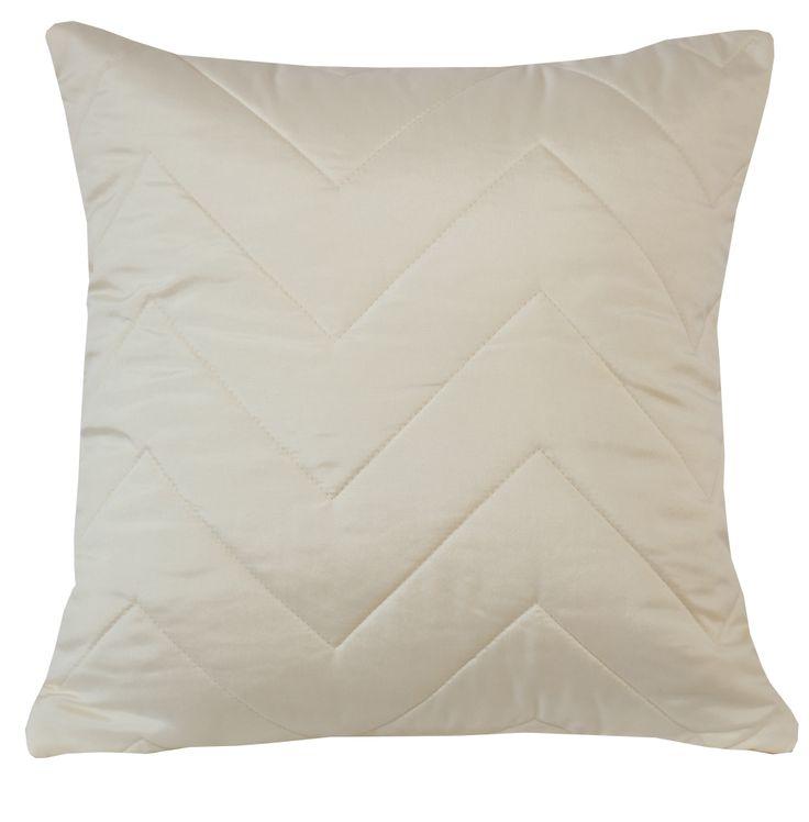 Kremowa ozdobna poszewka na poduszkę 40x40