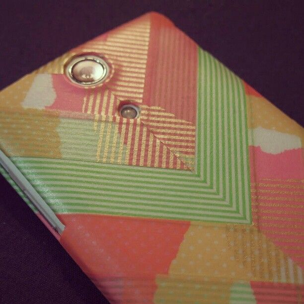 Washi Tape Cell Phone Cover Use The Pattern On A Card