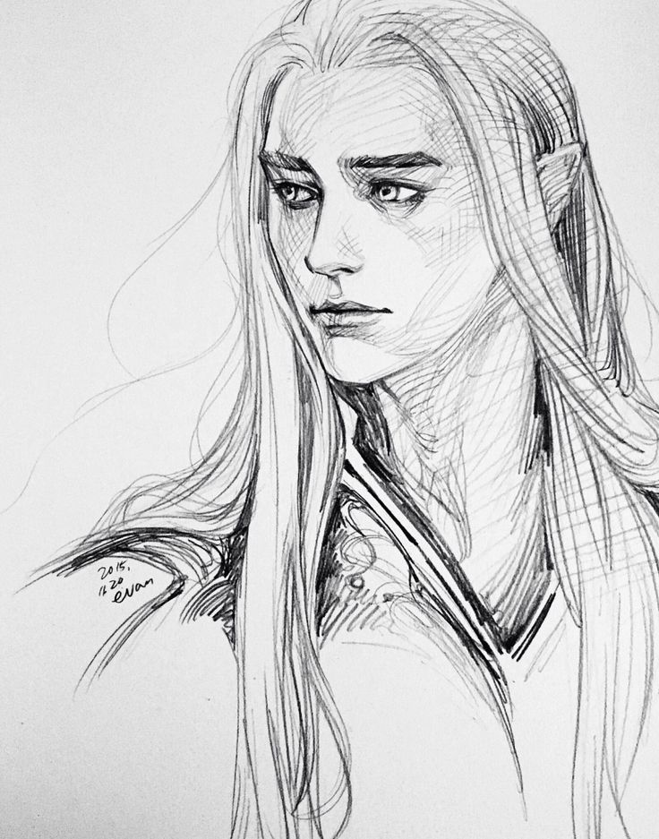King Thranduil of Mirkwood from The Hobbit drawing