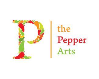 Puzzle pattern logo design: The Pepper Arts