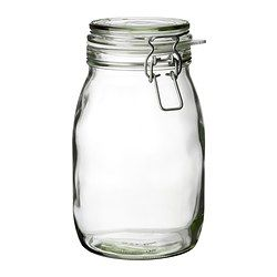 KORKEN Jar with lid - IKEA.  $4.49.  Now I just need to find somebody to go to IKEA for me!/with me!