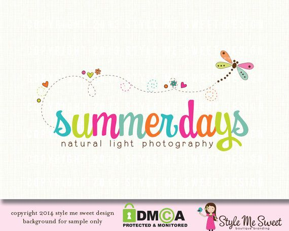 Premade Dragonfly Logo Photography Logo by stylemesweetdesign, $40.00