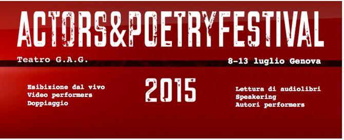 Banner di Actors&PoetryFestival