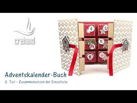 DIY Adventskalender in Buchform selbst gestalten (2. Teil) – Videoanleitung | crehand – stamp it!