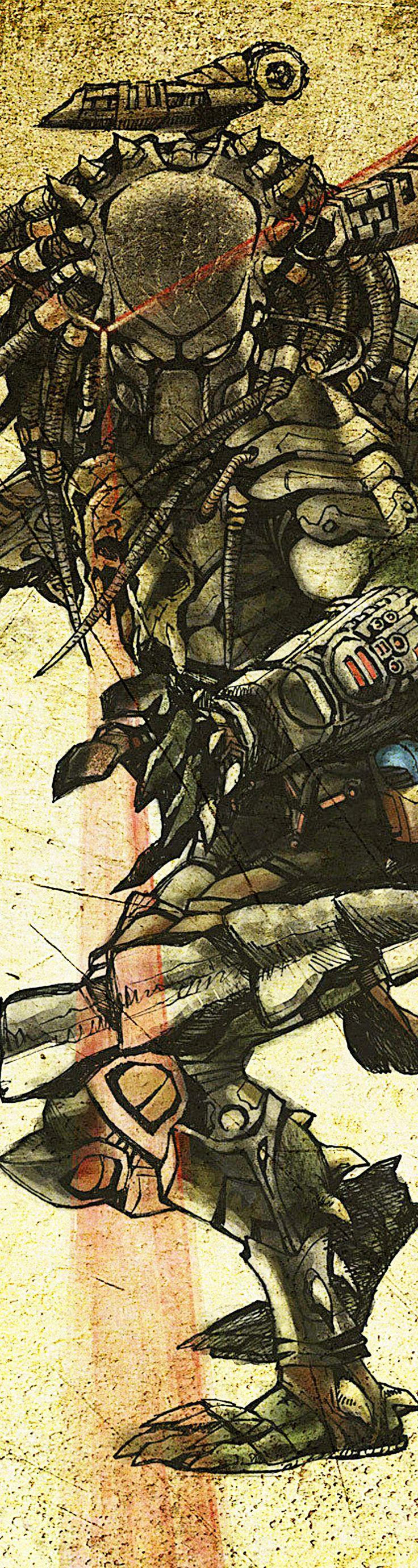 Predator, great background, love the concept