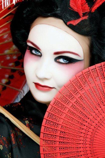 geisha makeup - Buscar con Google