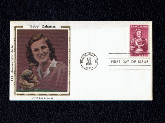 US 1932 Babe Zaharias September 22 1981 Pinehurst NC First Day Cover  Scott's US 1932 FDC  Colorano