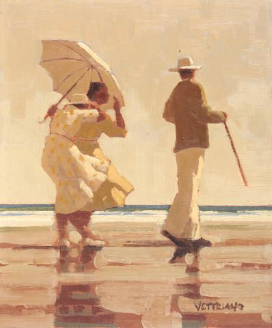 Jack Vettriano - Incident on the Beach