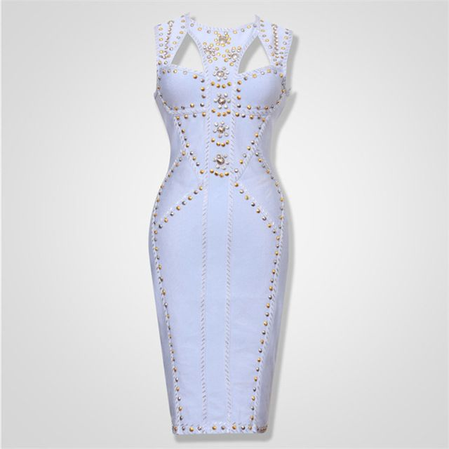 Newest High Quality Fashion Keyhole Blue Beading Bandage Dress Cocktail Party Dress   US $57.04 /piece   Click link to buy other product http://goo.gl/p8JMyk