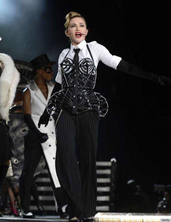 Madonna cone bra...MDNA tour, tel aviv, 2012