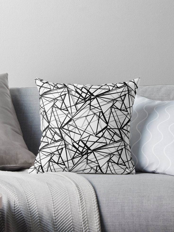 Black and white abstract geometric pattern . • Also buy this artwork on home decor, apparel, stickers, and more.
