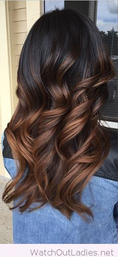 Amazing chocolate brown ombre