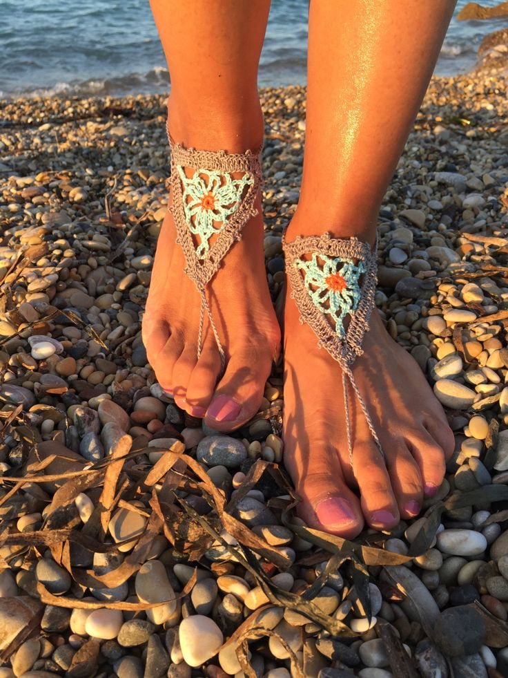 Crochet Barefoot sandals, Nude sandals, Foot jewelry, Beach shoes, Yoga shoes, Beach shoes, Bridesmaids gift, Wedding accessory by TheKnitPanda on Etsy