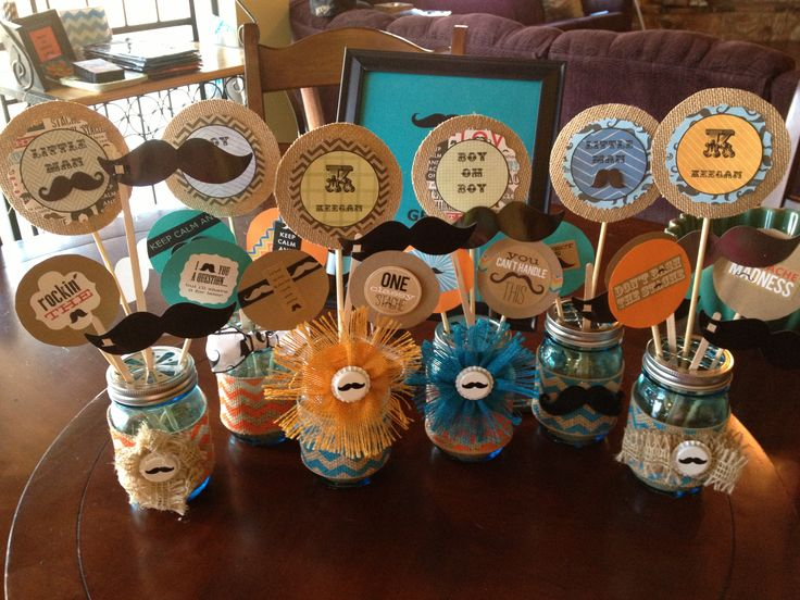 mustache centerpieces for baby shower keegan alanshower ideas baby