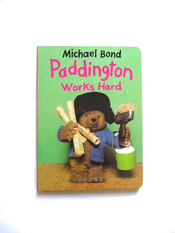 Paddington Works Hard Vintage Board Book